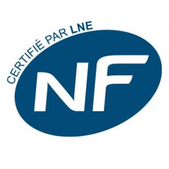 NF - French Regulation - Volunteer quality mark. Products labeled with this mark have confirmed reliability.
